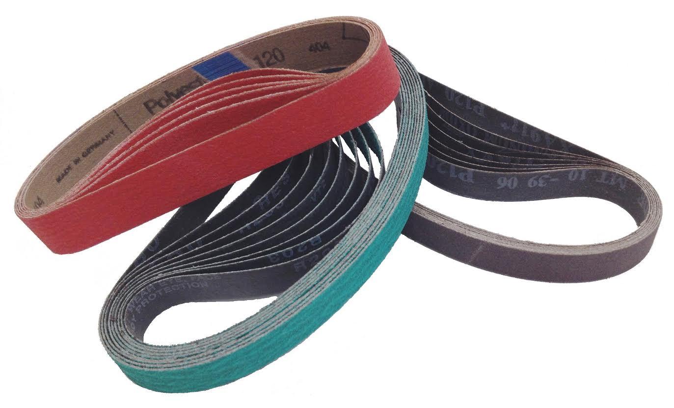 "2/"" x 72/"" Ceramic Fast Cut 60 Grit  Sanding Belts 5 Belts"